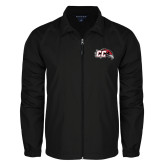Full Zip Black Wind Jacket-CC with Thunderbird