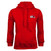 Red Fleece Hoodie-CC with Thunderbird