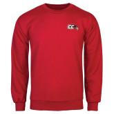 Red Fleece Crew-CC with Thunderbird