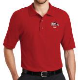 Red Easycare Pique Polo-Dad