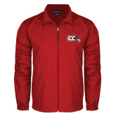 Full Zip Red Wind Jacket-CC with Thunderbird
