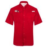 Columbia Tamiami Performance Red Short Sleeve Shirt-CC with Thunderbird