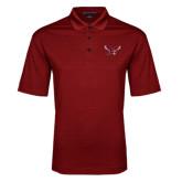 Red Performance Fine Jacquard Polo-Thunderbird