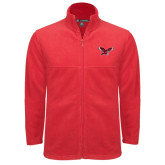 Fleece Full Zip Red Jacket-Thunderbird