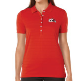 Ladies Callaway Opti Vent Red Polo-CC with Thunderbird