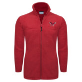 Columbia Full Zip Red Fleece Jacket-Thunderbird