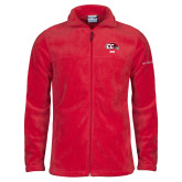 Columbia Full Zip Red Fleece Jacket-Dad