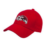 Red Heavyweight Twill Pro Style Hat-CC with Thunderbird