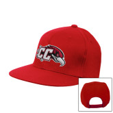 Red Flat Bill Snapback Hat-CC with Thunderbird