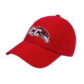 Red Twill Unstructured Low Profile Hat-CC with Thunderbird
