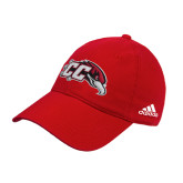 Adidas Red Slouch Unstructured Low Profile Hat-CC with Thunderbird