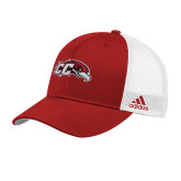 Adidas Red Structured Adjustable Hat-CC with Thunderbird