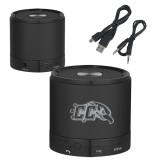 Wireless HD Bluetooth Black Round Speaker-CC with Thunderbird Engraved
