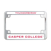 Metal Motorcycle License Plate Frame in Chrome-Thunderbirds