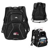 High Sierra Swerve Black Compu Backpack-CC with Thunderbird