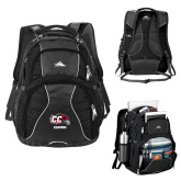 High Sierra Swerve Black Compu Backpack-Alumni