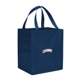 Non Woven Navy Grocery Tote-Catawba Primary Mark