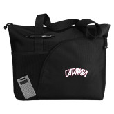 Excel Black Sport Utility Tote-Catawba Primary Mark