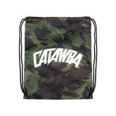 Nylon Camo Drawstring Backpack-Catawba Primary Mark