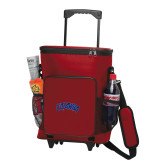 30 Can Red Rolling Cooler Bag-Catawba Primary Mark
