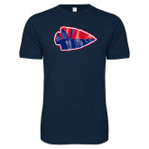 Next Level SoftStyle Navy T Shirt-Arrowhead