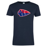 Ladies Navy T Shirt-Arrowhead