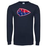 Navy Long Sleeve T Shirt-Arrowhead
