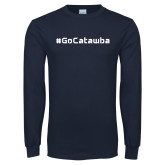 Navy Long Sleeve T Shirt-GoCatawba