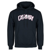 Navy Fleece Hoodie-Catawba Primary Mark