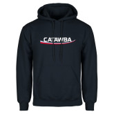 Navy Fleece Hood-Catawba with Swoop