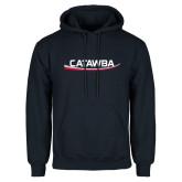 Navy Fleece Hoodie-Catawba with Swoop