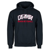 Navy Fleece Hood-Basketball