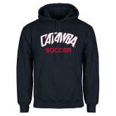 Navy Fleece Hood-Soccer