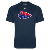 Under Armour Navy Tech Tee-Arrowhead