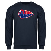 Navy Fleece Crew-Arrowhead