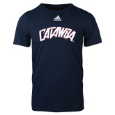 Adidas Navy Logo T Shirt-Catawba Primary Mark