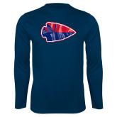 Performance Navy Longsleeve Shirt-Arrowhead