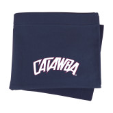 Navy Sweatshirt Blanket-Catawba Primary Mark