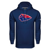 Under Armour Navy Performance Sweats Team Hoodie-Arrowhead
