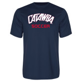 Performance Navy Tee-Soccer