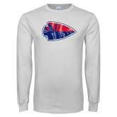 White Long Sleeve T Shirt-Arrowhead