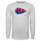 White Long Sleeve T Shirt-Arrowhead