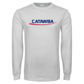White Long Sleeve T Shirt-Catawba with Swoop