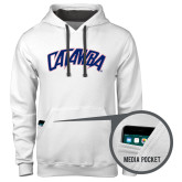 Contemporary Sofspun White Hoodie-Catawba Primary Mark