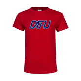 Youth Red T Shirt-Cat U