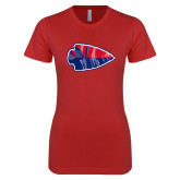 Next Level Ladies SoftStyle Junior Fitted Red Tee-Arrowhead