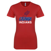 Next Level Ladies SoftStyle Junior Fitted Red Tee-Track & Field