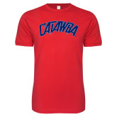 Next Level SoftStyle Red T Shirt-Catawba Primary Mark