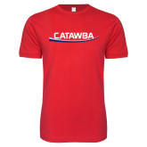 Next Level SoftStyle Red T Shirt-Catawba with Swoop