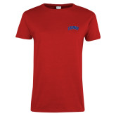 Ladies Red T Shirt-Catawba Primary Mark